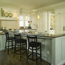 Traditional Kitchen by Dwell Design Studio