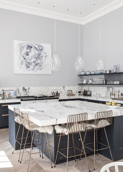 Transitional Kitchen by Laura Butler-Madden
