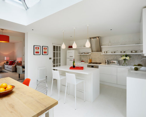 L Shaped Kitchen With An Island Design Ideas Remodel Pictures Houzz