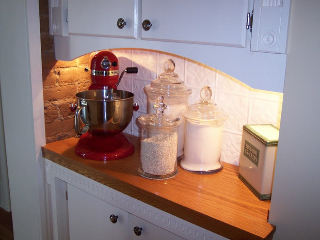 Traditional Kitchen victorian kitchen remodel pantry wall