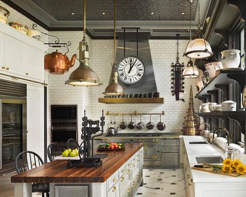 cuisine victorienne avec un sol en marbre photos et id es d co de cuisines. Black Bedroom Furniture Sets. Home Design Ideas