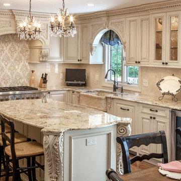 Victorian White Custom Kitchen