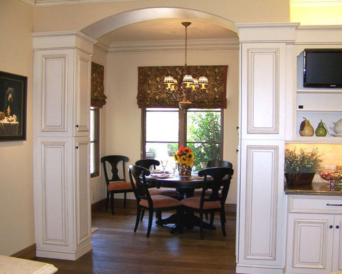 Pillar arch home design ideas pictures remodel and decor for Arch kitchen cabinets