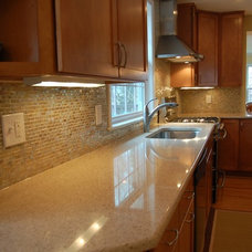 Contemporary Kitchen by Columbia Tile & Marble Inc