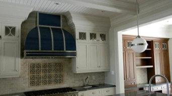 Viking blue colour match wall mount range hood by Custom Range Hood #30-004