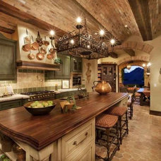 Mediterranean Kitchen by Paddle Creek Design