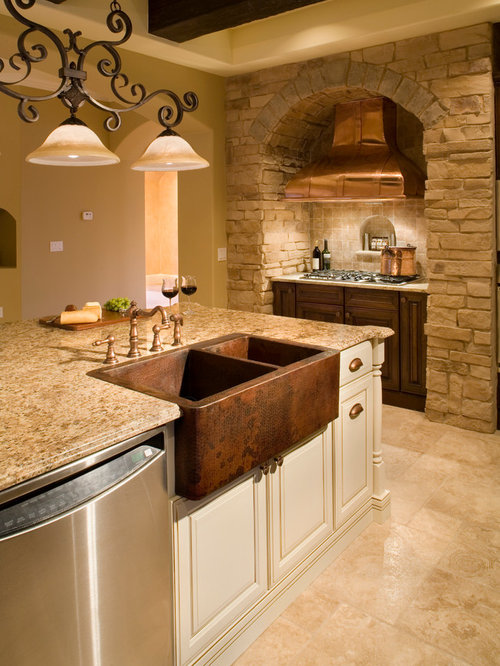 Copper Farm Sink Home Design Ideas Pictures Remodel And