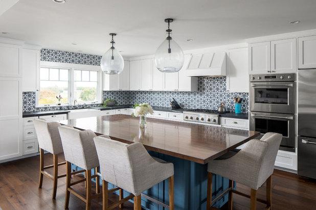 Transitional Kitchen by Christine Kimberlee Designs
