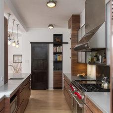 Transitional Kitchen by Ann Clark Architects LLC