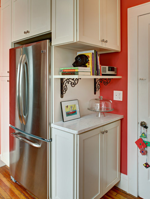 Eclectic Kitchens: Shelves Around Refrigerator Ideas, Pictures, Remodel And Decor