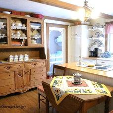 Farmhouse Kitchen by Karen Savage Design