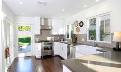 Vintage Modern Kitchen with Taupe Finishes