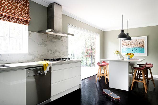 Transitional Kitchen by Brett Mickan Interior Design