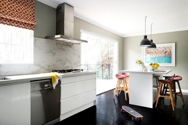 Transitional Kitchen by Brett Mickan Inside Design