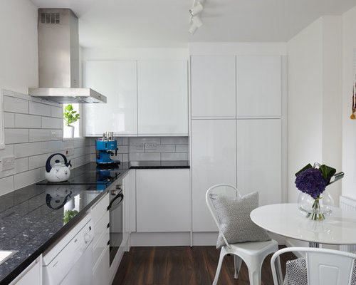 Inspiration For A Contemporary L Shaped Kitchen/diner In London With A  Built