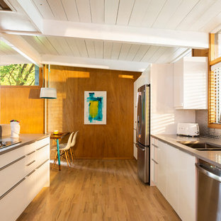 75 Beautiful Midcentury Modern Kitchen With White Cabinets Pictures