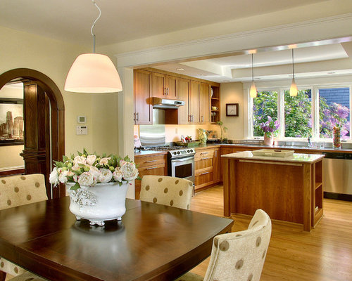 Open kitchen to dining room ideas pictures remodel and decor for Kitchen with dining room designs