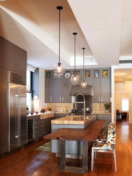 Kitchen island extension idea ideas pictures remodel and decor Modern kitchen design ideas houzz