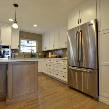 West Hialeah Place - Transitional White Kitchen