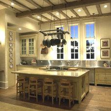 Mediterranean Kitchen by Pete Foster Residential Design, LLC