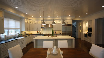 Wainscott NY Contemporary Kitchen - Marble Tops - White Painted