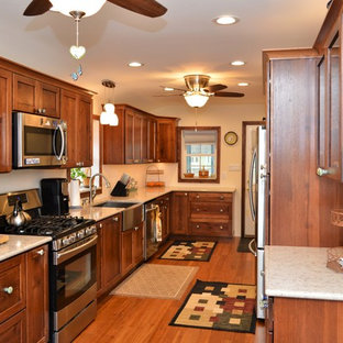 Walkerton, IN. Haas Signature Collection. Rustic Hickory Long Kitchen