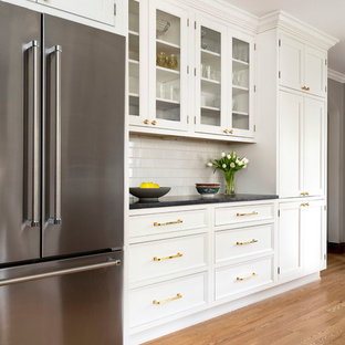 Wall of cabinets and additional counter space