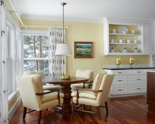 Houzz | Yellow Walls White Cabinets Design Ideas & Remodel Pictures