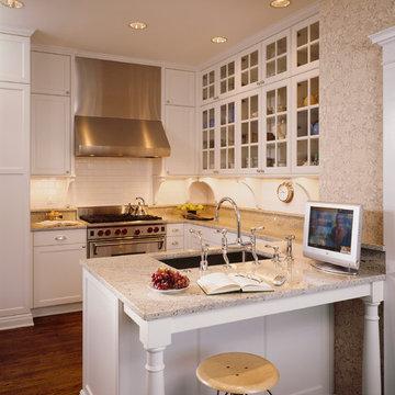 Wallpapered Kitchens