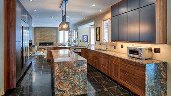 Walnut & Graphite Contemporary Kitchen