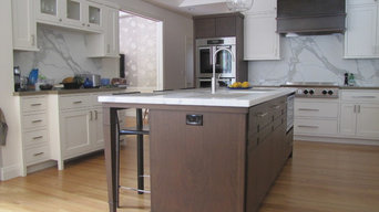 Walnut and White Painted Kitchen
