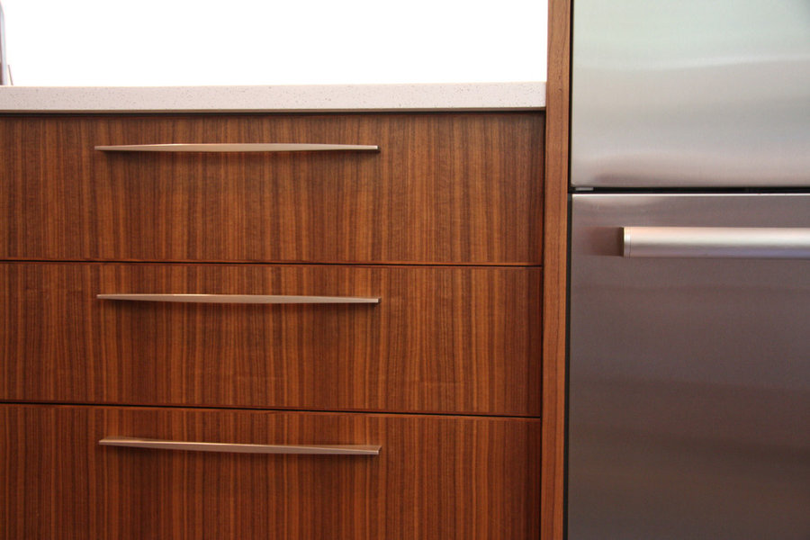 Walnut cabinetry detail