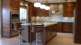 Walnut horizontal grain kitchen
