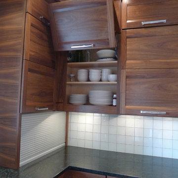 Walnut horizontal grain kitchen