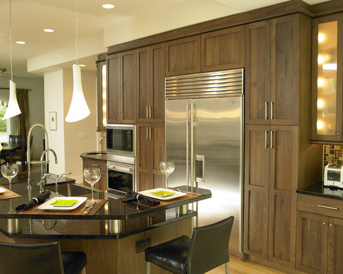 Natural Walnut Cabinets Ideas, Pictures, Remodel and Decor