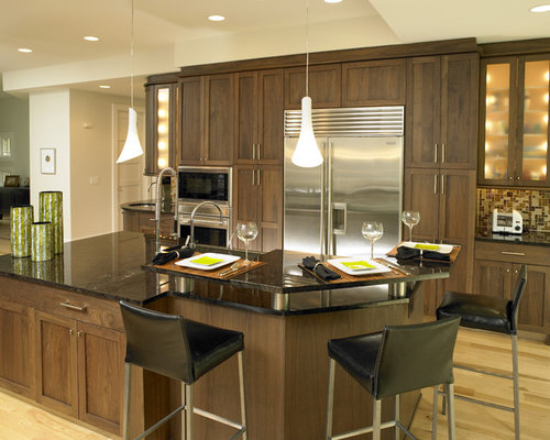walnut kitchen | houzz