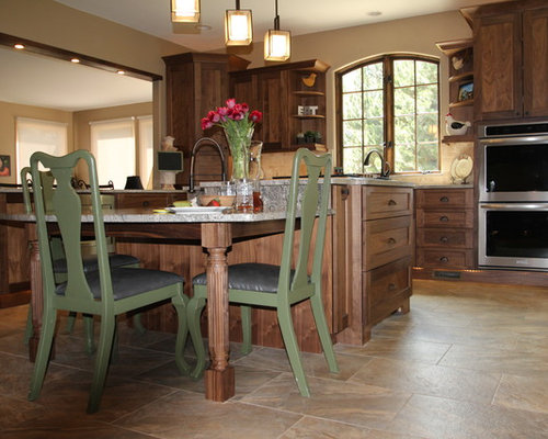Eclectic Aisle Kitchen Design Ideas Remodel Pictures Houzz
