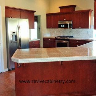 Walnut oak cabinets