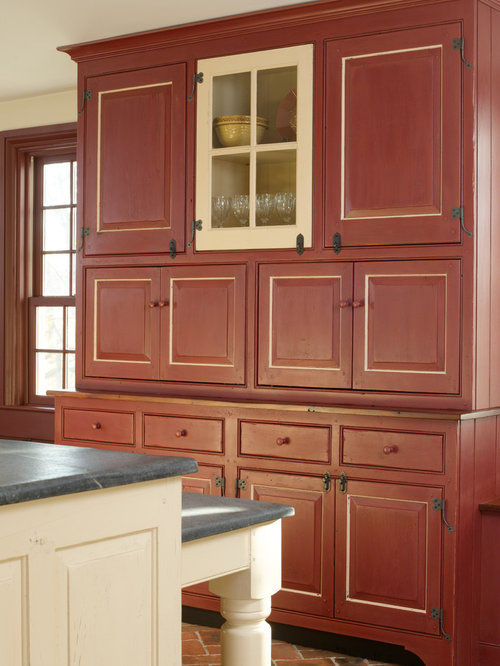 Distressed Milk Paint Kitchen Cabinets Houzz