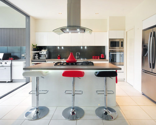 This Is An Example Of A Small Contemporary U Shaped Open Plan Kitchen In  Brisbane