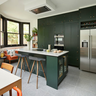 Inspiration for a retro kitchen in London.