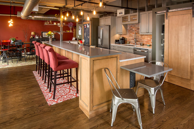 Industrial Kitchen by Silent Rivers Design+Build