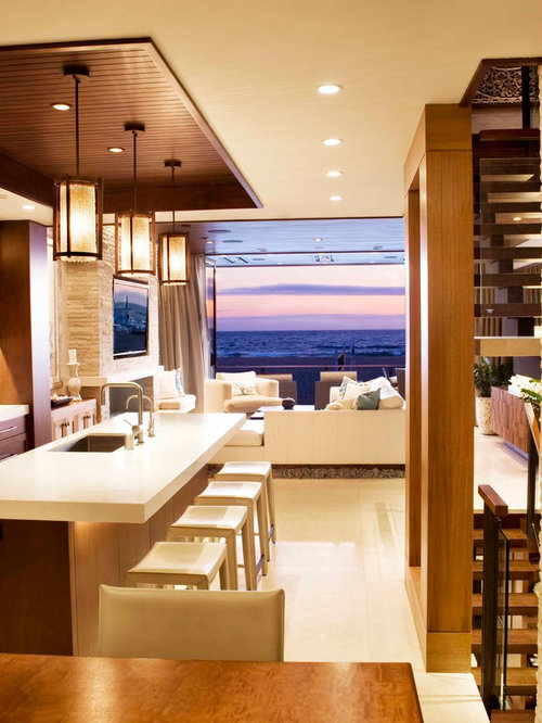 Trendy open concept kitchen photo in Los Angeles