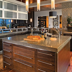 traditional kitchen Warm Contemporary Kitchen