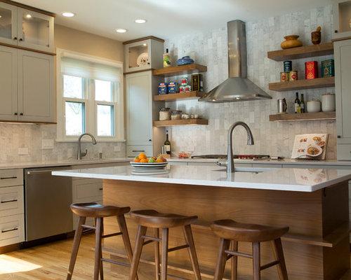 raleigh kitchen design ideas renovations photos with grey splashback. Black Bedroom Furniture Sets. Home Design Ideas