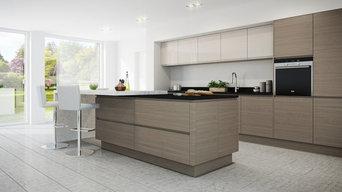 Warm Grey Oak Handleless Kitchen