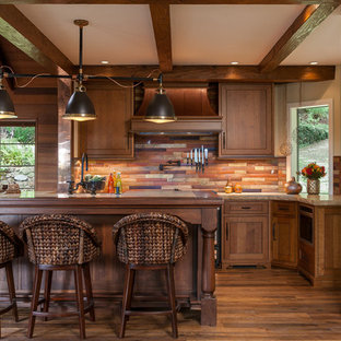 Warm Rustic Cabin Kitchen