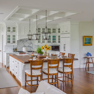 Warm Welcome - White Kitchen - Cape Cod, MA  Custom Home