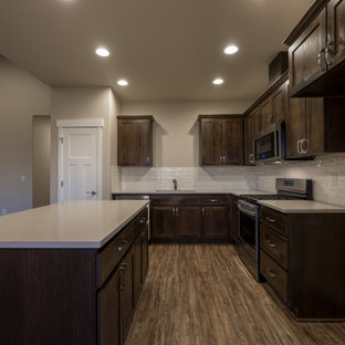 Warm Wood Kitchen and Vaulted Great Room
