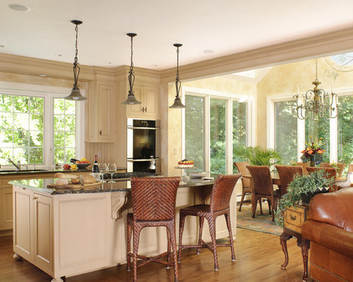 kitchen sunroom houzz. Black Bedroom Furniture Sets. Home Design Ideas